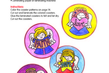 Angel Christmas Coaster Set