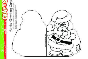 Santa Greeting Card Christmas Craft! Free Daily Download